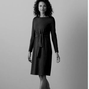 J. Jill Wearever Collection black tie-front dress